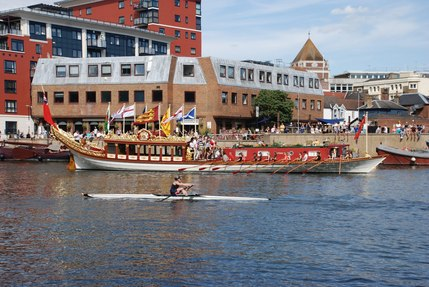 Gloriana and rower