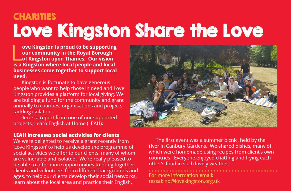 Clip from Salmon magazine about Love Kingston