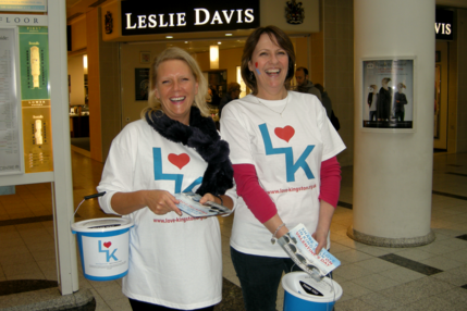 Volunteer collectors at Bentall Centre